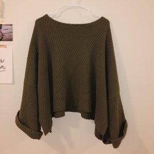 Free People Flowy Green Sweater